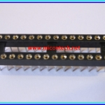 1x IC Socket Round Turned Pin Type Socket 28 pins 7.62mm/0.3 inch Pitch 2.54mm