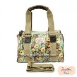 กระเป๋าทรงหมอน Chalita wu + สายสะพาย สีเขียว ลายนาฬิกา
