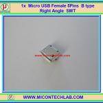 1x Micro USB Female 5-pin Type B SMD SMT Socket connector