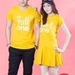 เสื้อคู่ เสื้อคู่รัก ชุดคู่รัก เสื้อคู่รักเกาหลี เสื้อคู่แฟชั่น ลาย Short One & Tall One ADX007
