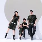 เสื้อครอบครัว ชุดครอบครัว พ่อ แม่ ลูก Square Love Set