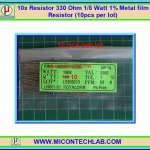 10x Resistor 330 Ohm 1/8 Watt 1% Metal film Resistor (10pcs per lot)