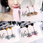 เลือกสีด้านในค่ะ ต่างหู Spring Flower Korea ER55412