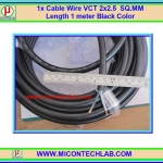 1x Cable Wire VCT 2x2.5 SQ.MM Length 1 meter Black Color