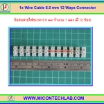 1x Wire Cable 6.0 mm 12 Ways Connector (ข้อต่อสายไฟ)