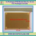 1x แผ่นปริ้นท์พีซีบีไข่ปลา IC2 ขนาด 8x12 ซม(PCB) (M)