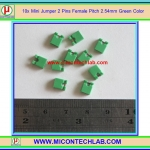 10x Mini Jumper 2 Pins Female Pitch 2.54mm Green Color