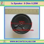 1x ลำโพง 8 โอห์ม 0.25 วัตต์ ขนาด 2.25 นิ้ว (Speaker 8 Ohm 0.25 W)