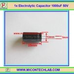1x Electrolytic Capacitor 1000uF 50V