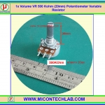 1x Volume VR 500 Kohm (20mm) Potentiometer Variable Resistor