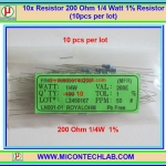 10x Resistor 200 Ohm 1/4 Watt 1% Resistor (10pcs per lot)