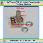 1x Volume VR 100 Kohm (15mm) Potentiometer Variable Resistor