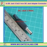 1x DC Jack 5.5x2.5 mm DC Jack Adapter Connector