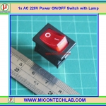 1x AC 220V Power ON/OFF Switch with Lamp