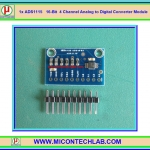 1x ADS1115 I2C ADC 4 Channel 16-Bit with Programmable Gain Amplifier Module