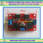 1x LM2596 XL6009 Step Up&Down (Buck Boost) Adjustable DC-to-DC converter module