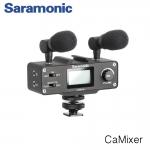 Saramonic CaMixer Microphone Kit with Dual Stereo Condenser Mics, Digital Mixer & XLR/Mini-XLR Input