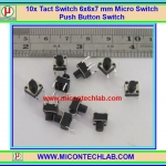 10x Tact Switch 6x6x7 mm Micro Switch Push Button Switch
