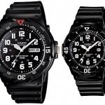 นาฬิกา CASIO นาฬิกาคู่ สายยางเรซิน MRW-200H-1E กับ LRW-200H-7E2 ประกันศูนย์ 1 ปีเต็ม