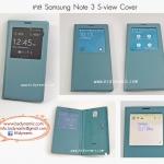 Case Samsung Note3 S-view cover สีเขียวอ่อน