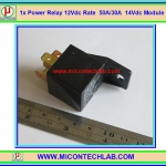 1x Power Relay 50A Coil 12Vdc 1 Form C (SPDT) Contact Rating 50A