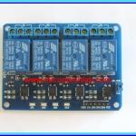 1x แผงวงจรรีเลย์ DC 5Vdc ขนาด 4 ช่อง มีออปโต้ (Relay DC 5Vdc 4-channel)