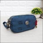 กระเป๋าคล้องมือ Lingky ผ้าทอ สีน้ำเงินล้วน