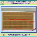 1x Prototype PCB 877 Board Size 8.0 x 14.3 cm