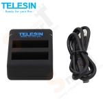 TELESIN Dual Battery Ports USB Charger for HERO4