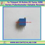 1x Trimpot 10 Kohm 25 Turns 3296 Series Potentiometer Valiable Resistor