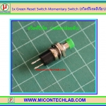 1x Green Reset Switch Momentary Switch (สวิตซ์รีเซตสีเขียว)