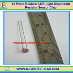 1x Photo Resistor 5528 LDR Light-Dependent Resistor Sensor Chip 5mm