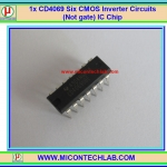 1x CD4069 Six CMOS Inverter Circuits (Not gate) IC Chip