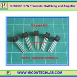 5x BC337 NPN Switching and Amplifier Transistor