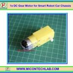1x มอเตอร์เกียร์ดีซี 3-6 V (DC Gear Motor) สำหรับ Smart Robot