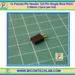 1x Female Pin Header 1x2 Pin Single Row Pitch 2.54mm (1pcs per lot)