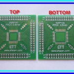 PCB TQFP100 Double side Pitch 0.4 and 0.5mm