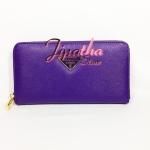กระเป๋าสตางค์ Chalita wu สีม่วง