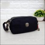 กระเป๋าคล้องมือ Lingky ผ้าทอ สีดำล้วน