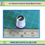 1x Volume Control Knob Black Color (ลูกบิดสำหรับวอลลุ่ม)