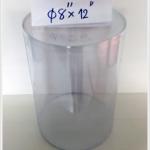 กล่องกลม-เหรียญโปรยทาน ขนาด 8 นิ้ว x สูง 12 นิ้ว