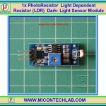 1x Photoresistor Light Dependent Resistor (LDR) Dark-Light Sensor Module