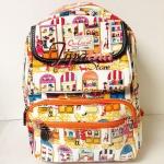 กระเป๋าเป้ Chalita wu สีขาว ลายแฟชั่น