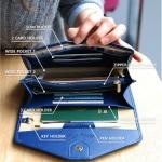 กระเป๋าจัดเก็บพาสปอร์ตสไตส์เกาหลีสีน้ำเงิน