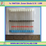 1x 1N4733A Zener Diode 5.1V 1.0W 1N4733