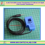 1x SCT-013-005 CT 0-5A to 0-1V Split Core Current Transformer