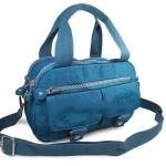 กระเป๋าเนื้อ kipling + สะพาย ใบเล็ก สีฟ้า