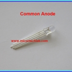 1x LED Tri-Color RED GREEN BLUE (RGB color) Common Anode