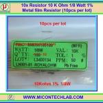 10x Resistor 10 Kohm 1/8 Watt 1% Metal film Resistor (10pcs per lot)