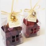 กล่องคัพเค้ก มาการอง 5.1 x 5.1 x 5.1 cm (แบบบ้าน)